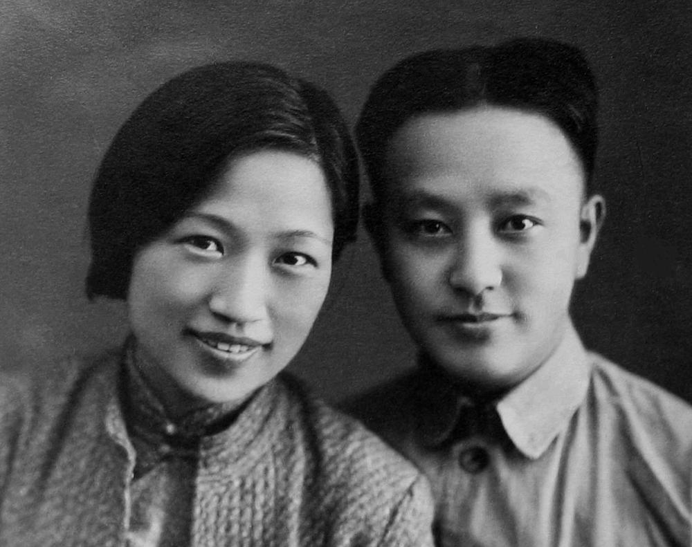 Ван Мин и Мэн Циншу. Ханькоу, 1938 г.